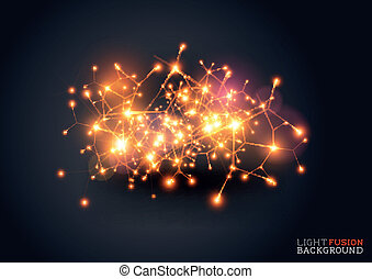 Light fusion abstract background illustration.