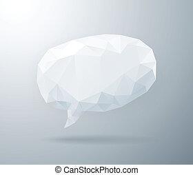 Light geometric speech bubble
