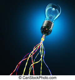light global connection - classic 3d light bulb and cable...