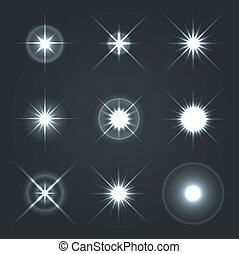 Light Glow Flare Stars Effect Set 2. - Light Glow Flare...