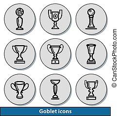 Light goblet icons
