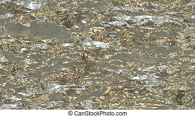 Light Gold Crumpled Foil Seamless Background Texture