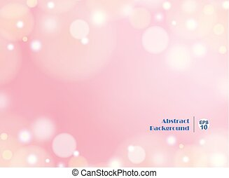 Light gradient pink background with round bokeh