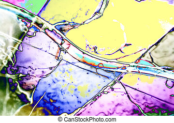 Light Graphics: Microphoto of translucent structures in...