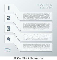 Light Gray Steps Infographics Elements