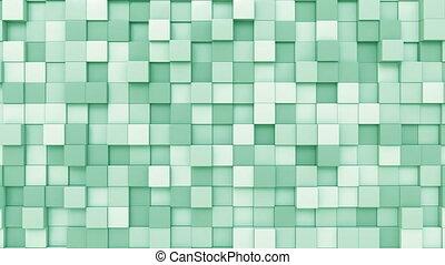 Light green cubes