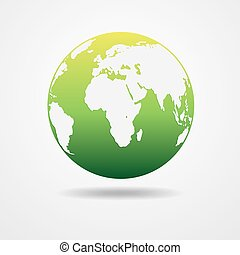 Light - green Earth globe