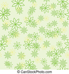 Seamless flower pattern in green colors