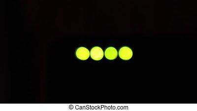 Light green indicators wi-fi router dark