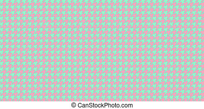 Light Green Pink Seamless Houndstooth Pattern Background. Traditional Arab Texture. Fabric Textile Material.