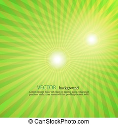 light green rays star burst television vintage background