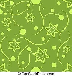 Light green seamless floral pattern.