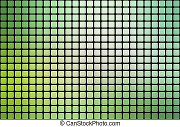 Light green shades abstract rounded mosaic background over black