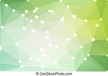 Light green shades geometric background with lights