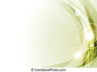 Light green shiny abstract waves background