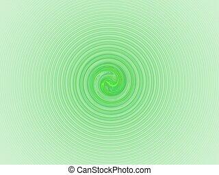 Light green spiral