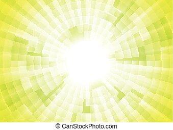 Light green tech vector geometric background