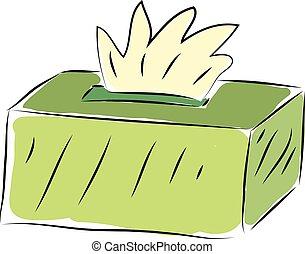 Light green tissue box vector illustration on white ...