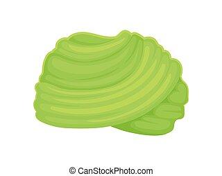 Light green turban. Vector illustration on white background.