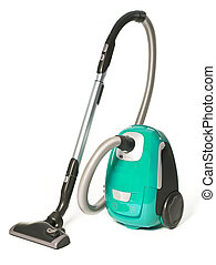 Vacuum Cleaner - Light Green Vacuum Cleaner isolated on...