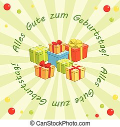 light green vector background - Alles gute zum Geburtstag