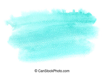 Light green watercolor stain isolated on white background -...