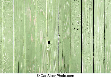 green wooden background with vertical planks