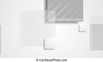 Light grey abstract squares geometric video animation