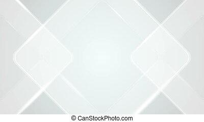 Light grey blue geometric squares video animation