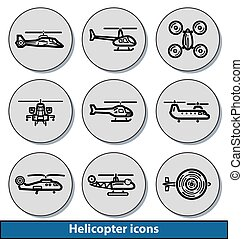 Light helicopter icons