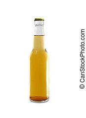 Light Homebrew Beer in Clear Bottle