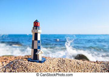 Light house at the beach