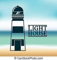 light house design, vector illustration eps10 graphic