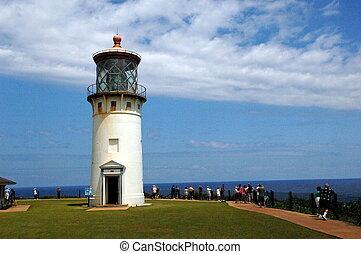 Light house off the coast