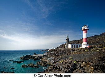 Light houses in El Faro, La Palma, canary islands, spain