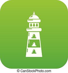 Light icon green vector