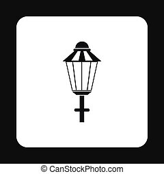 Light icon in simple style - icon in simple style on a white...