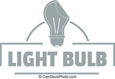 Light idea logo, simple gray style