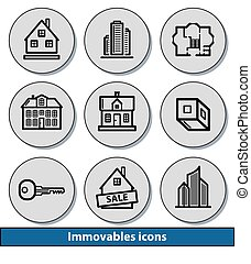 Light immovables icons