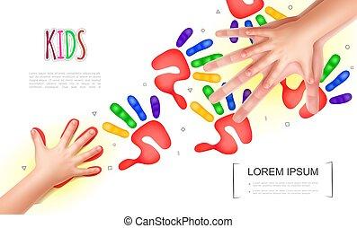 Light Kids Hands Concept