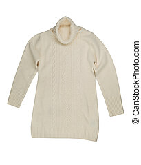 Light knitted sweater.