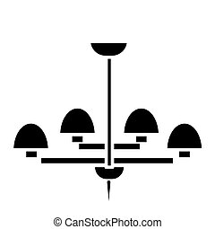 light lamp ceiling bra icon, vector illustration, black sign on isolated background