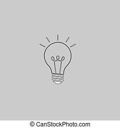 Light lamp computer symbol