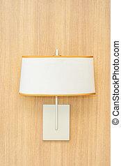 Light lamp decoration on wall interior