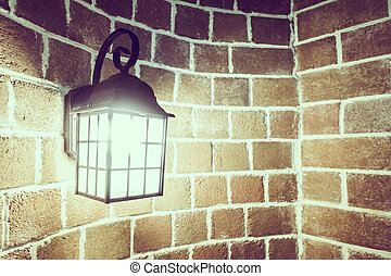 light lamp decoration on wall