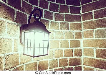 light lamp decoration on wall