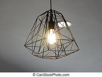 light lamp. modern loft style