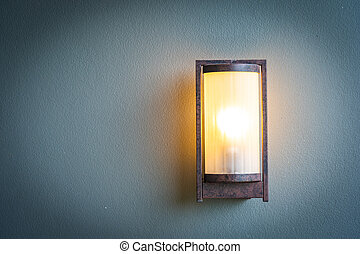 Light lamp on wall decoration