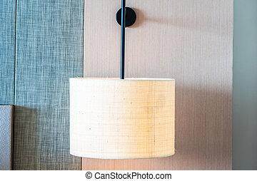 Light lamp on wall decoration interior