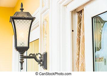 Light lamp on wall
